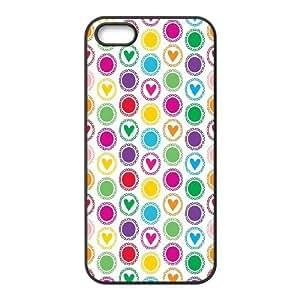 iPhone 5 5s Cell Phone Case Black Polka Dot Design Phone Case Cover DIY Plastic XPDSUNTR08012