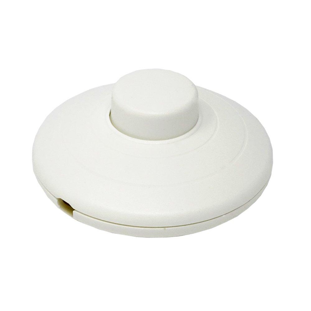 Soporte Pedal Interruptor color Blanco 250 V Redondo CE Interruptor de pie para de pie y mesa Leuchten 924051 –  Interruptor Christoph Palme