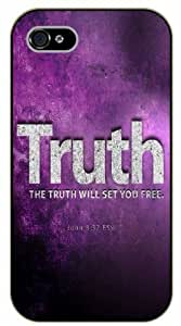 iPhone 5 / 5s Bible Verse - The truth will set you free. John 8:32 - black plastic case / Verses, Inspirational and Motivational