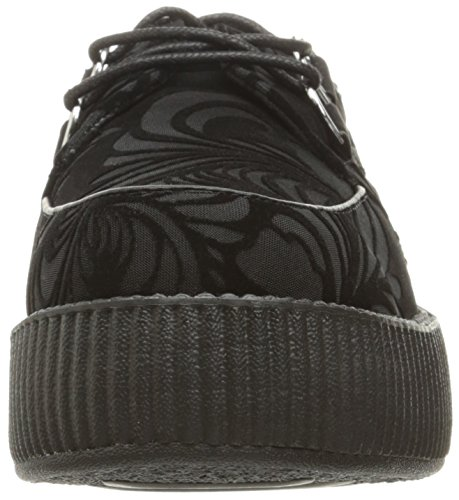 u Shoes Viva Velvet Black Women's T Creeper Burnout k dHnEqaa
