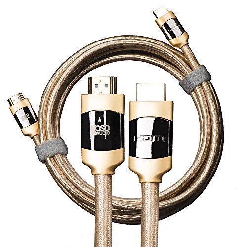 Aurum Ultra-High-Speed HDMI Audio/Video Cable with Ethernet, Supports 4K, 3D and ARC, CL3/FT4 Rated (12M / 39.3Ft) by OSD Audio