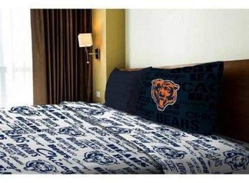 (NFL Anthem Chicago Bears Bedding Sheet Set: Twin)