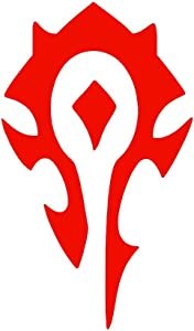 Horde [Pick Color] Wow Vinyl Transfer Sticker Decal for Laptop/Car/Truck/Window/Bumper (3in x 1.8in, Red)