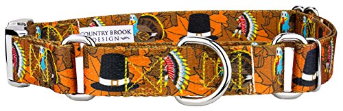 (Country Brook Petz Thanksgiving Tradition Martingale with Premium Buckle - Medium)