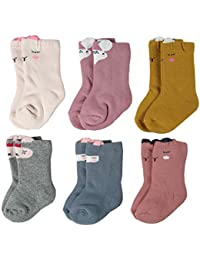 Unisex Baby Socks Soft Thick Cotton Infant Toddler Grow Warm Crew Socks 3/6 Pair Pack