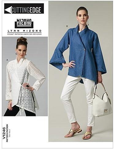 VOGUE PATTERNS V1246 - Patrones de Costura para Camisas de Mujer (Talla BB: 38-44)