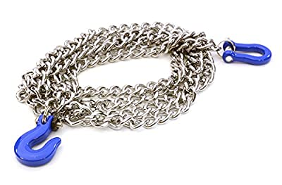 Integy RC Hobby C26887BLUE Realistic 1/10 Scale Metal Drag Chain w/ Bow Shackle & Tug Hooks for Off-Road