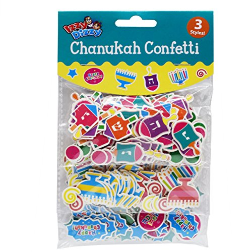 - Chanukah Confetti - 3 Styles: Menorahs, Dreidels and Happy Chanuka - Hanukkah Party Decorations and Supplies by Izzy 'n' Dizzy