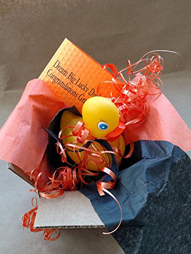 Graduation Greeting Card Gift Box SPEC-QUACK-ULAR Yellow Rubber Duck Present Package Direct Ship to Family - Token Graduation Ideas