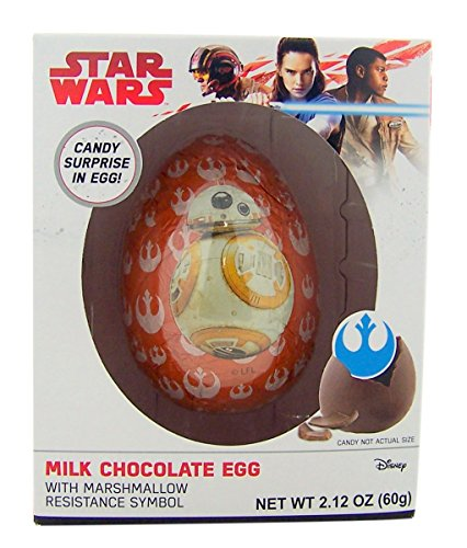 Star Wars Milk Chocolate Easter Egg with Marshmallow Resistance Symbol, 2.12 oz