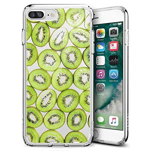 Fashion Anti-Scratch Soft Durable TPU Ultra-Clear Silicone UV Printing Protective Kiwi Fruit Phone Case for iPhone 7 Plus 8 Plus