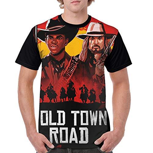 GAOHAT LilNasX Shirt Short Sleeve Crewneck Mens' T-Shirt, XL Black (T-shirt Billy Ray Cyrus)