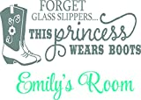Personalized Name Vinyl Decal Sticker Custom Initial Wall Personalization Forget Glass This Princess
