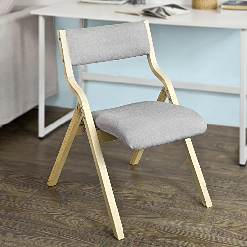 SoBuy Haotian Wooden Padded Folding Chair, Dining Chair, Office Chair, Desk Chair (FST40-HG) For Sale
