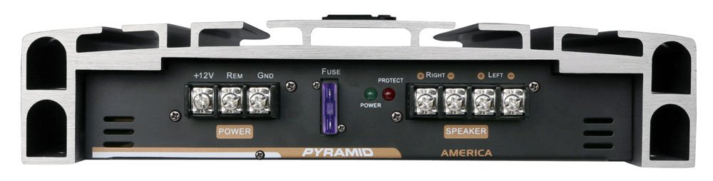 Silver Plated RCA Input Output Pyramid PB3818 Crossover 5000W High Power 2-Channel Bridgeable Audio Sound Auto Small Speaker Amp Box w// MOSFET Bass Boost Control 2 Channel Car Stereo Amplifier