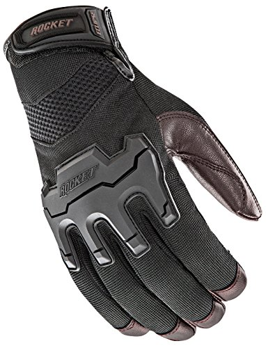 Joe Rocket Men's Eclipse Gloves (Black/Brown, Large)