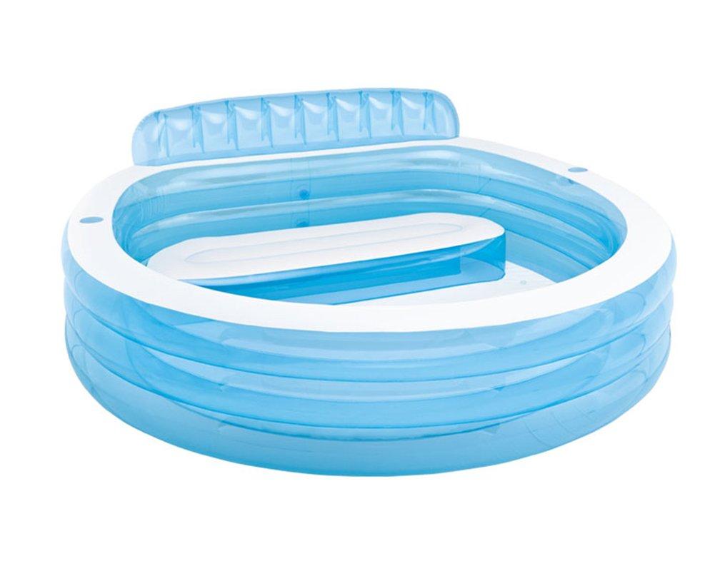 Inflatable Bathtub, Plastic Household Round Bathtub Thickened Folding Portable Bath Adult Bathtub Outdoor Swimming Pool/blue