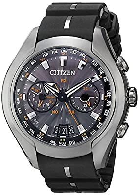 Citizen Men's CC1076-02E Satellite Wave Air Eco-Drive Watch with Black Band