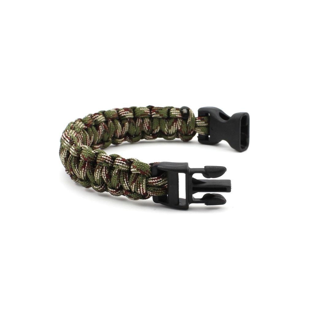 HuaYang nouveau bracelet corde bracelet durgence de survie Camouflage Vert