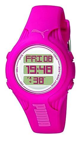 f757f19b9 Puma PU910782002 - Reloj Digital de Cuarzo para Mujer con Correa de Caucho