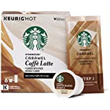 Starbucks Caramel Caffè Latte Medium Roast Single Cup Coffee for Keurig Brewers, 4 Boxes of 6 (24 Total K-Cup pods)