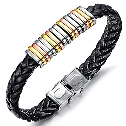 ZUOZUO Leather Wristband Leather Bracelet Men S Bracelet With Stainless Steel Buckle Bracelet Jewelry Best Gift Estimated Price £19.99 -