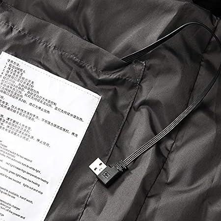 Elektrische Beheizte Weste USB Aufladung Warme Heat Jacke Waschbare Lade beheizte K/örper W/ärmer Daunenweste Herren Leichte Beheizte Weste mit 3 Fakultativ Temperatur f/ür Winter ski Wandern Camping