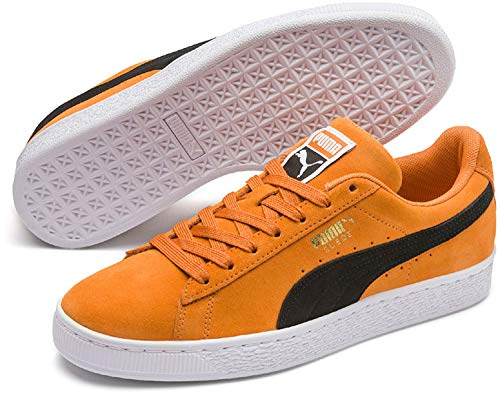 Puma Suede puma orange Black Classic Vert Adulte Mixte Pop Baskets 67 Basses aar0qdzw
