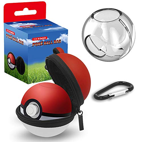 Carrying Case for Nintendo Switch Poke Ball Plus Controller, 2 in 1 Accessories Portable Carry Case for Pokémon Lets Go Pikachu and Lets Go Eevee Game