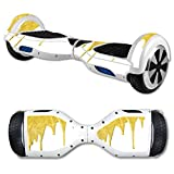 MightySkins Protective Vinyl Skin Decal for Hover Board Self Balancing Scooter mini 2 wheel x1 razor wrap cover sticker Gold Drip