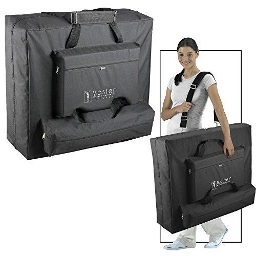 Master Massage 31″ Santana LX Portable Massage Table Package, Memory Foam Reiki Mountain Red