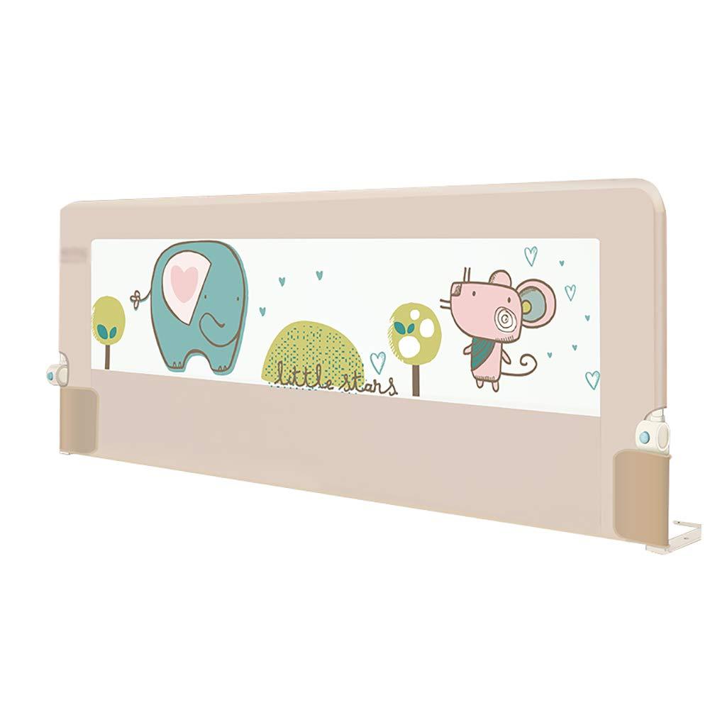 宅配便配送 幼児のための折り畳み式の余分な背の高いベッドレール子供の安全なダブルベッドのための転倒防止ベッドガードレール、高さ75cm調節可能 180cm)、1サイド (サイズ、カーキ色 (サイズ さいず : 180cm) 180cm : B07MM5W1RD, Select Shop サンファン:10cd9e32 --- a0267596.xsph.ru