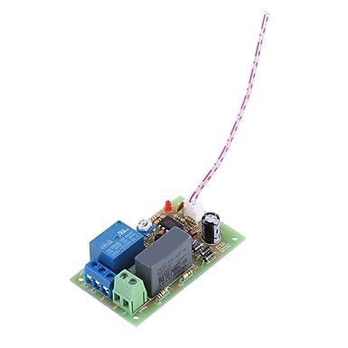 Module de Temporisateur Asixx Module de Relais de Minuteur AC220V R/églable 1Sec~60Sec. 1s-60s et 1s-5min Optionnel