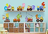 Construction Kids 123s Large Wall Decal Set