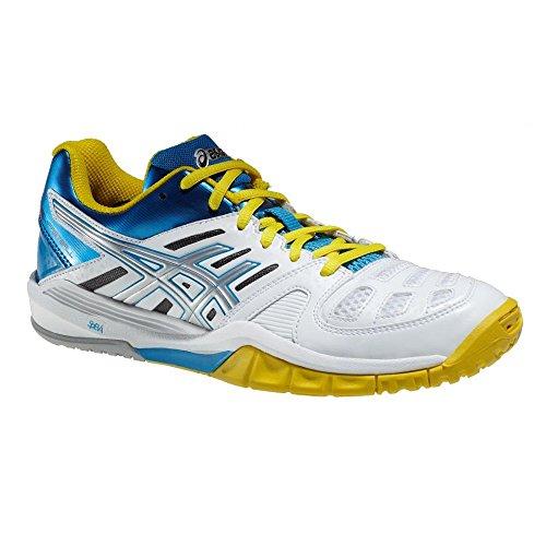 ASICS - Gel Fastball femme Blanc/jaune/bleu Blanc