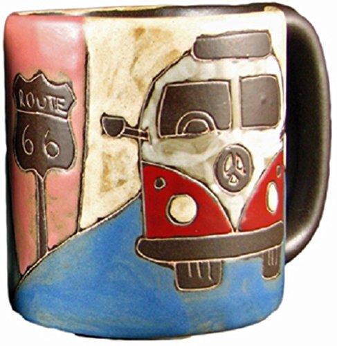 Mara Stoneware Mug - Love Bus - 16 oz