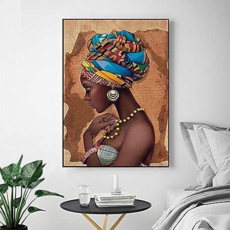 Geiqianjiumai Mutu African Wall Art Solo Marco Sala de Estar ...