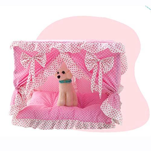Princesa Cama para Perros de Encaje Sofá Suave para Perros Pequeños Casa de Perrito de Encaje