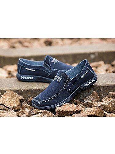 Caqui 41 Elemento Azul Super 43 De 40 44 Color 42 armada Talla C Cn Lona 39 Zapatos Planos Coser Suave Gris Mocasines Clásico Costura Suela Goma Hombre qTRn7gAq