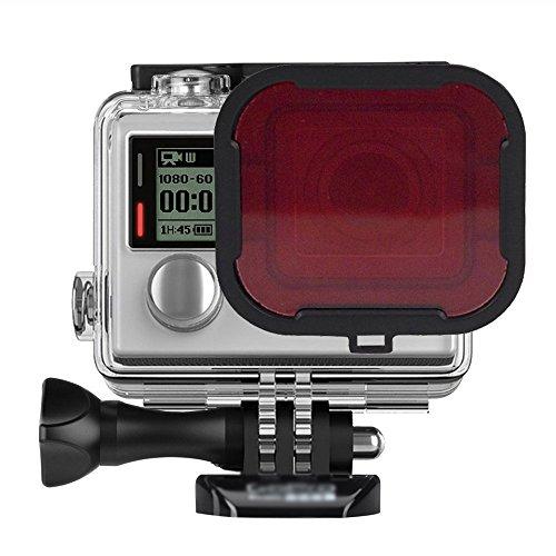 E-League(TM)Gopro 3+/4 Diving Filter,Professional Red Diving Housing Filter Underwater Filter Diving Lens for Gopro Hero3+ Gopro Hero 4