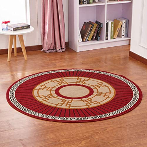 PLLP Home Living Room Doorway Bedside Carpet-Noble European Style Flowers Round Carpet Easy to Handle Stains Non-Slip Area Bedroom Living Room Carpet Computer Chair Cushion,#2,200200CM