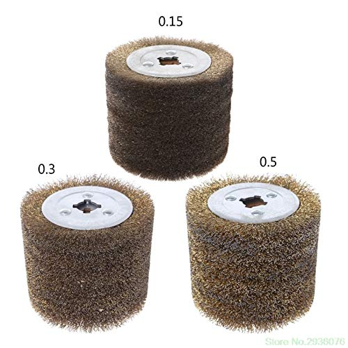 Maslin New Arrival Deburring Abrasive Stainless Steel Wire Round Brush Polishing Grind Buffer Wheel Drop Shipping Support - (Size: 0.3) by Maslin (Image #2)