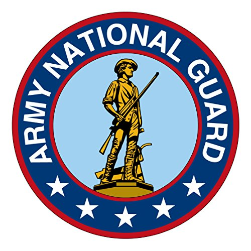 - US Army - Seal of the United States Army National Guard Patch Decal - Five Inch Tall Full Color Decal, Sticker