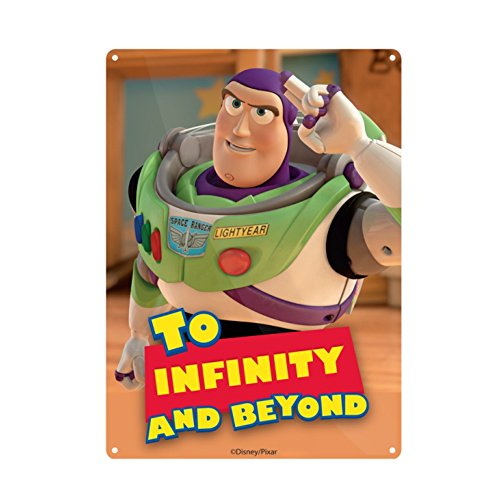 Buzz Lightyear Decor - Genuine Disney Toy Story Buzz Lightyear To Infinity A5 Steel Sign Tin Wall Door Plaque