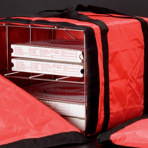 Deluxe Pizza Delivery Bag with Rack