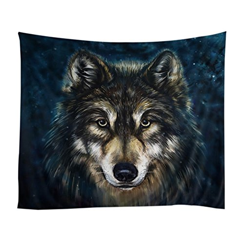 Xinhuaya Realistic Wolf Printed Wall Hanging Tapestry with Romantic Pictures Art Nature Home Decorations for Living Room Dorm Bedroom Decor in 51x60 inches (51 W by 60