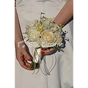 Rose, Sweetpea, Lily of the Valley & Gypsophila Bridesmaid Posy 4