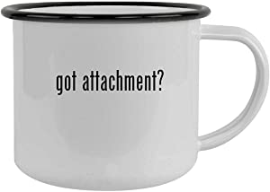got attachment? - 12oz Camping Mug Stainless Steel, Black