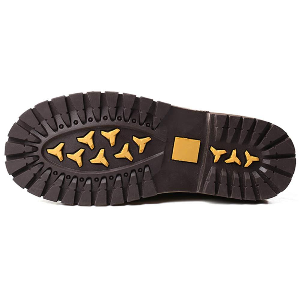 Herren-Schwarz-Spitze Herren-Schwarz-Spitze Herren-Schwarz-Spitze Martin Stiefel Plus SAMT Größe Stiefel, Braun, Hohe Hilfe, Niedrige Ferse Plattform Britischer Herrenschuhe 57b603