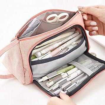 Estuche de gran capacidad para lápices, estuche de maquillaje, bolsa ...